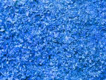 Textuur van klein zaagsel in blauwe kleur Artistiek voorwerp Ontwerpermateriaal royalty-vrije stock foto's