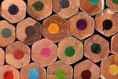 Textuur van kleurenpotloden Royalty-vrije Stock Fotografie
