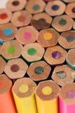 Textuur van kleurenpotloden Selectieve nadruk Royalty-vrije Stock Foto