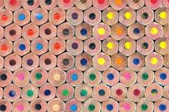 Textuur van kleurpotloden Stock Fotografie