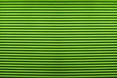 Textuur van kleurrijke groene plastic blinden voor samenvatting Stock Foto's
