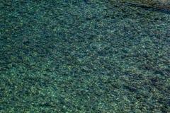 Textuur van Lichtblauw Groen Zeewater stock afbeeldingen