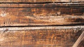 Textuur van met de hand gemaakte houten bruine omheining royalty-vrije stock foto