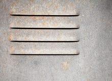 Textuur van metaalmuur met ventilatietraliewerk Stock Foto's