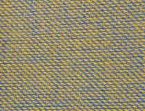 Textuur van multikleurenstof met regelmatig die patroon als achtergrond wordt gebruikt Stock Fotografie