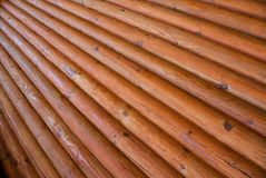 Textuur van muur van logboeken wordt gemaakt dat Stock Afbeelding