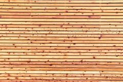 Textuur van natuurlijke houten voering stock afbeelding