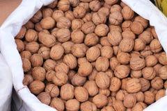 Textuur van noten stock afbeelding
