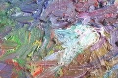Textuur van olieverf Royalty-vrije Stock Afbeeldingen