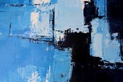 Textuur van olieverfschilderij, de winteremoties stock afbeeldingen