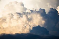 Textuur van Onweerswolken vóór de regen royalty-vrije stock foto's