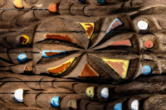 Textuur van oud houten en gekleurd glas Stock Afbeeldingen