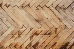 Textuur van oud houten parket Stock Foto