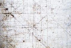 Textuur van oud ijzer met de kras Achtergrond Stock Foto's