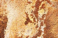 Textuur van oud metaal met roest en gebarsten verf Royalty-vrije Stock Foto