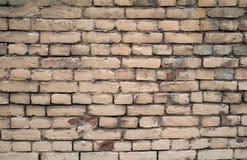 Textuur van oude bakstenen muren, geschilderde grijze verf Stock Foto's