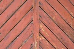 Textuur van oude deuren met raadsvisgraat Royalty-vrije Stock Foto's