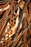 Textuur van oude en roestige metalen royalty-vrije stock foto's