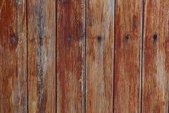 Textuur van oude houten die panelen met spijkers worden gespeld Stock Afbeelding