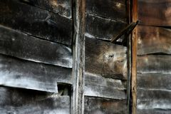 Textuur van oude houten stroken Stock Afbeelding