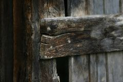 Textuur van oude houten stroken Royalty-vrije Stock Afbeelding