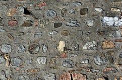 Textuur van oude muur met verschillende stenen Royalty-vrije Stock Foto