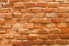 Textuur van oude oranje bakstenen muur voor patroon en achtergrond Royalty-vrije Stock Fotografie