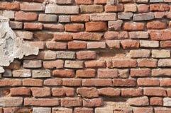 Textuur van oude rode baksteen Stock Fotografie