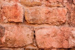 Textuur van oude rode bakstenen muur Stock Foto