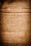 Textuur van oude vuile bruine aardappelzak. royalty-vrije stock foto's