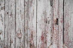 Textuur van oude witte verf op zwarte raad Stock Fotografie