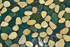 Textuur van overzeese stenen van licht aan donkergroene schaduwen royalty-vrije stock foto