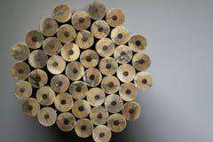 Textuur van potloden Stock Afbeelding