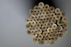 Textuur van potloden Stock Fotografie