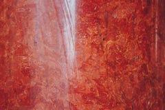 Textuur van rode en witte marmeren steen dichte omhooggaand close-up gelaagde rotsstructuur stock foto's