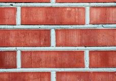 Textuur van rode moderne bakstenen muur met cementlagen Stock Afbeelding