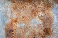 Textuur van roestig gegalvaniseerd ijzer Royalty-vrije Stock Afbeeldingen