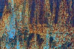 Textuur van roestig geschilderd metaal Stock Foto