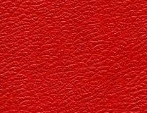 Textuur van rood leer Stock Fotografie