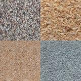 Textuur van rots, pijnboomhout, zand en groene koolstof Royalty-vrije Stock Afbeelding