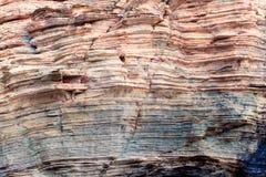 Textuur van rotsen op strand van kathedralen, Galicië, stock fotografie