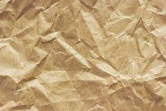 Textuur van ruw verfrommeld document, achtergrond royalty-vrije stock afbeelding