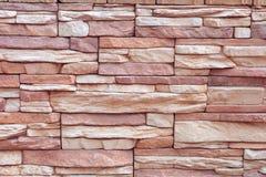 Textuur van ruwe grijze steenbakstenen muur Stock Fotografie