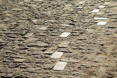 Textuur van steenbestrating Stock Foto