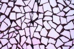 Textuur van steenmuur met mozaïektegels Stock Foto's