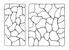 Textuur van stenen afzonderlijk Muurhulp vector illustratie