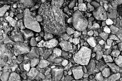 textuur van stenen op het strand Stock Foto's