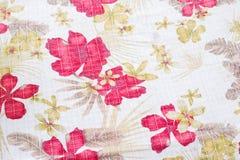 Textuur van stof in bloemenpatroon Stock Afbeeldingen