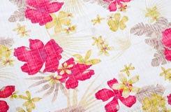Textuur van stof in bloemenpatroon Royalty-vrije Stock Foto