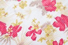 Textuur van stof in bloemenpatroon Royalty-vrije Stock Afbeelding